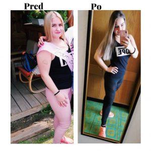 Porovnanie postavy pred a po